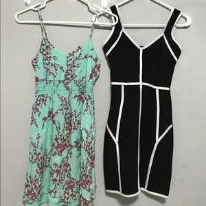 LOT OF 2 EUC STRAPPY SPRING SUMMER DRESS XS